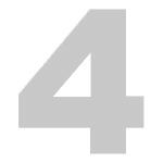 Chiffre 4 écrit en gris
